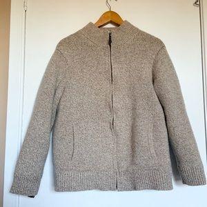 L.L. Bean Classic Rugg Wool Sweater full zip  XL